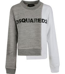 dsquared2 dual color logo print sweatshirt
