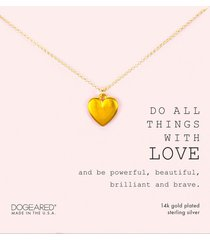 dogeared do all things with love necklace gold stone