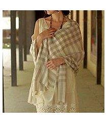 wool shawl, 'kashmiri plaid' (india)