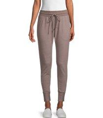 free people movement women's sunny skinny sweatpants - elderberry - size xs
