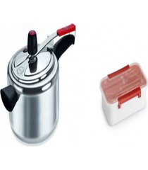 kit panela de pressão 3 l +pote plástico para marmita 780ml