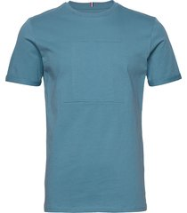 embossed encore t-shirt t-shirts short-sleeved blå les deux