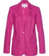 blazer in misto lino (fucsia) - bpc selection