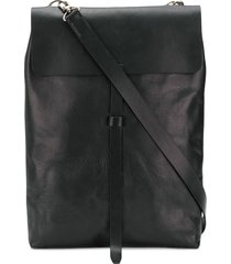 ann demeulemeester blanche long satchel bag - black