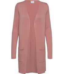 vibolonsia knit pocket l/s cardigan tb stickad tröja cardigan rosa vila