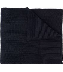 maison margiela chunky-knit wool-cotton scarf