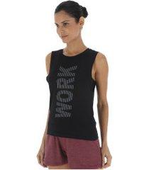 camiseta regata oxer work for it - feminina - preto