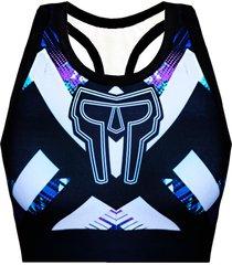 top galaxy purple spartanus fightwear roxo - roxo - feminino - dafiti