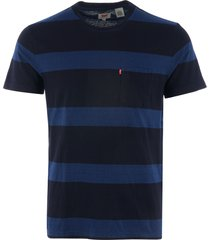 levi's sunset pocket t-shirt - boink stripe white 298130076