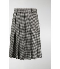 ami paris buttoned pleated skirt