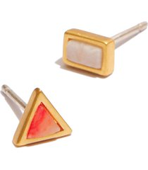 women's madewell sunwashed stud earrings