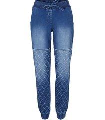 jeans stile biker con cinta comoda (blu) - bpc bonprix collection