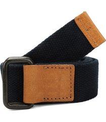 cinturón azul navy-miel colore