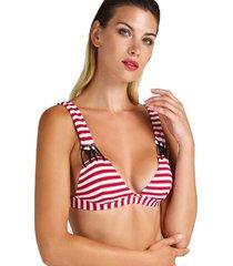 top bikini triangle rojo guess