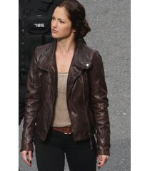 handmade womens brown biker leather jacket, brown women's leather jacket