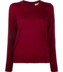 michael michael kors button-back lightweight sweater - red