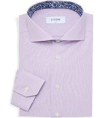 slim-fit pinstripe dress shirt