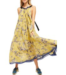 women's free people tropical toile dress