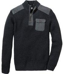 maglione con colletto dritto (grigio) - john baner jeanswear