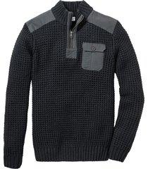 pullover con cerniera regular fit (grigio) - john baner jeanswear