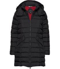d2. classic down long jacket gevoerde lange jas zwart gant