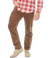pantalon cotele marron corona