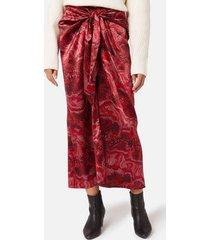 ganni women's silk stretch satin skirt - samba - eu 36/uk 8