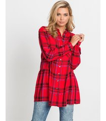 blouse met ruitpatroon