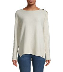 calvin klein women's metallic ribbed top - beige - size xs