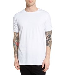 men's zanerobe flintlock longline crewneck t-shirt, size xx-large - white