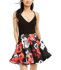 speechless juniors' printed-skirt dress