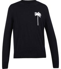 palm angels intarsia sweater
