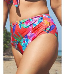 bora bora high waist wrap tie tummy control bikini bottom