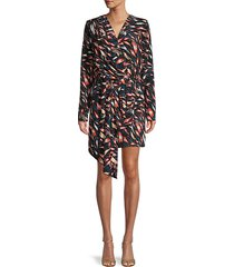 abti print silk sheath dress