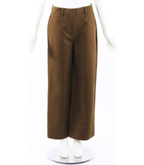 co. 2019 cropped work pants brown sz: m