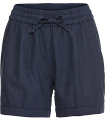 shorts in misto lino (blu) - bodyflirt