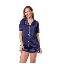 pijama camiseta manga curta shorts macio homewear trituê feminino