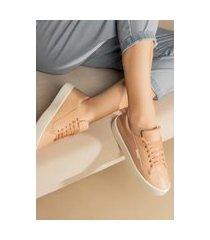 tênis feminino lançamento confortável zoccolette sapatênis casual rosa