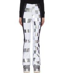 x jcc 'dami' metallic check ski pants
