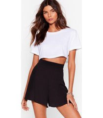womens a little roomy high-waisted relaxed shorts - black