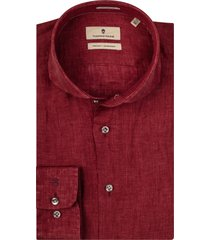 thomas maine overhemd linnen cutaway tailored fit
