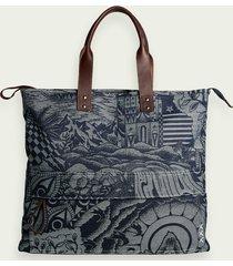 scotch & soda sketch pattern tote bag