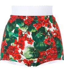 dolce & gabbana floral print bikini bottoms - red