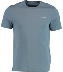 armani exchange t-shirt blauw regular fit 8nzt91.z8h4z/1579