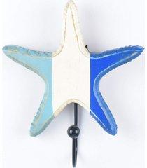 cabideiro concha azul e branco - multicolorido - dafiti