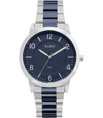 relógio feminino euro eu2036ylx/5k pulseira aço