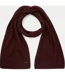 tommy hilfiger cotton scarf deep burgundy -