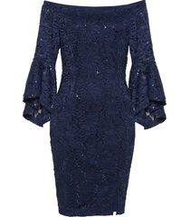 abito in pizzo con spalle scoperte (blu) - bodyflirt boutique