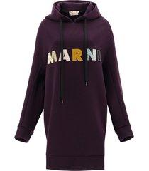 marni oversized sweatshirt with patchwork logo