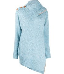 andersson bell alexis scarf neck cable jumper - blue